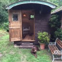 Current Project Heron Shepherd Hut being used as an artist studio